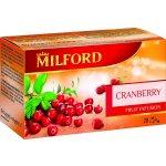 Milford ovocný čaj s příchutí brusinek 20 x 2,5 g