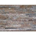 Alfistone kamenný obklad, kvarcit RUSTY, tloušťka 1-2cm, rozměr: 15 x 60 cm, BL011
