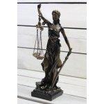 Socha spravedlnosti JUSTICE (v. 28 cm) - zlato-černá