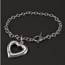 Goldpoint náramek stříbrný se srdcem a zirkonem 2.16.NR003860.19