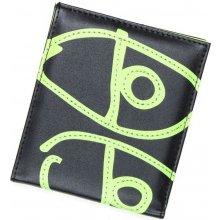 KROOKED EYES BI FOLD green peněženka