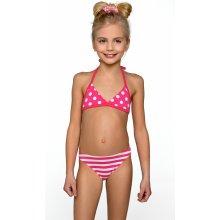 Lorin Dívčí dvoudílné plavky Sofie - bílo-růžové