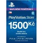 Sony PlayStation Store předplacená karta 1500 CZK