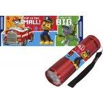 EUROSWAN Dětská hliníková LED baterka Paw Patrol červená Alu 9x3 cm