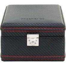 Luxusní černá kazeta na hodinky Friedrich Lederwaren Carbon 32049-2