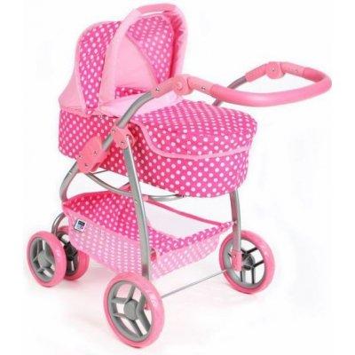 PLAYTO Multifunkční kočárek pro panenky PlayTo Jasmínka světle růžový 16830