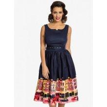 3351f8ad7ec Lindy Bop dámské retro šaty Delta Carnaby Street 3528 tmavě modrá