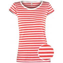 87f5a2451 Dámské námořnické triko Anne pruhované červené dámská trička ...