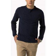 0ca07c21318 Tommy Hilfiger pánské tmavě modré tričko Henley s dlouhým rukávem