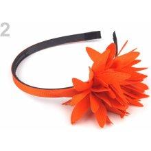 Čelenka s květem 12ks 2 oranžová mrkvová