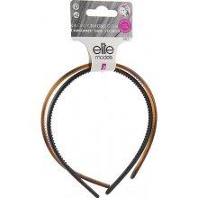 Čelenky plastové 2ks Elite Models ASST Černá/hnědá transparentní, 2 ks, šíře 9 mm