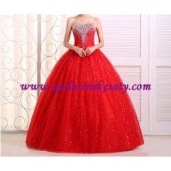 4e5ed7cd9fda Luxusní společenské červené dlouhé šifonové svatební šaty ...