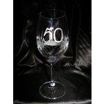 LsG-Crystal Jubilejka sklenice číše broušená na víno dekor Kanta J-240 450ml 1ks