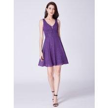 Ever-Pretty luxusní krátké šaty 3027 fialová 88f06fb7fc
