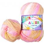 Alize Příze Burcum Bebe Batik 4406 béžová bílá růžová žlutá