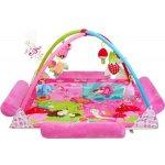 PlayTo Luxusní hrací deka s melodií zvířátka Růžová