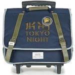 Ikks Tašky Aktovky na kolečkách Backpacker in Tokyo Modrá