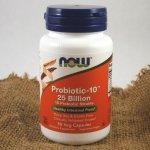 Now Foods ProBiotic 10 proBiotika 25 miliard CFU 10 kmenů 50 kapslí