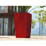 GreenSun Samozavlažovací Květináč ICES 12x12 cm, výška 23 cm, červený
