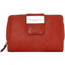 Prostorná kožená peněženka Kabana červená