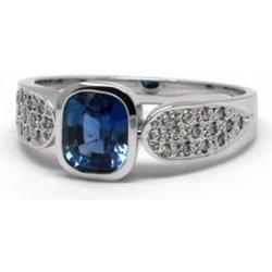 14241e26f Luxusní zásnubní prsten s modrým safírem J-21366-12 od 75 000 Kč -  Heureka.cz