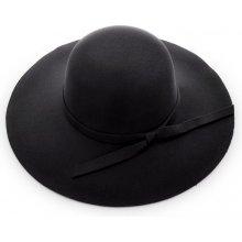 Exkluzivní klobouk dámský černý 1284/1