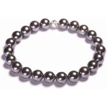 Lavaliere dámský perlový náramek šedé shell perly 13501