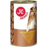 JK Animals masová konzerva pro psy 1230 g