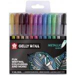 Bruynzeel-sakura POXPGB12 gelové pero metalické Gelly Roll Metallic 0.4 mm sada 12 barev