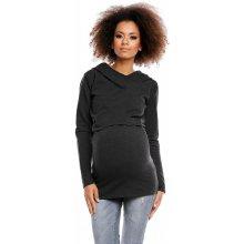 Be MaaMaa těhotenské kojící triko s kapucí grafitová c2a0fb9a81