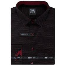 AMJ pánská košile Černá puntíkovaná VDPS947 075b2870e3
