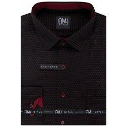 AMJ pánská košile Černá puntíkovaná VDPS947 d6f937a50b