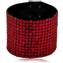 Shine bižuterní třpytivý barevný náramek červený TN024