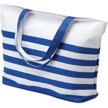 Borsa plážová taška v námořnickém stylu bílá modrá