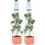 Waldbeck Tomato Tower květináč na rajčata set dvou kusů 25x150x25cm mřížka na upínání PP GT6 - Tomato-Tower