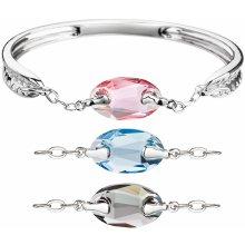 Evolution Group stříbrný náramek se Swarovski krystaly barevný 33079.3