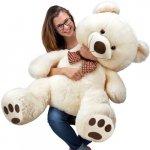 Velký bílý plyšový medvěd XXL plyšák 100 cm