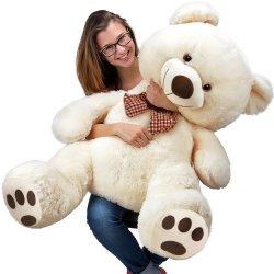 Velký bílý medvěd XXL plyšák 100 cm