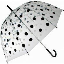 DecoDoma Dámský deštník průhledný s puntíky