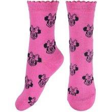 E plus M Dívčí ponožky Minnie - růžové