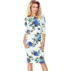 8348fac9fba8 Dámské šaty Numoco dámské sportovní šaty 13-65 barevné velké modre květy