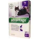 Bayer Advantage Spot-on Cat (pro kočky 4kg a více) 4x0,8ml
