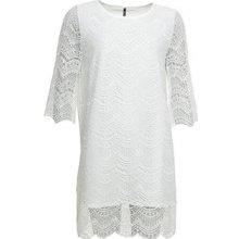 Smash dámské krátké krajkové šaty Renata bílá 6601aab846