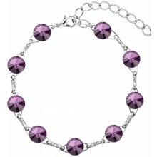 Swarovski náramek bižuterie krystaly fialový 53001.3 amethyst