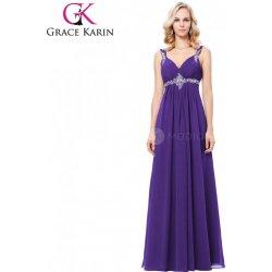 9149b50c5c38 Grace Karin Fialové plesové šaty dlouhé GK000129-2 Fialová ...