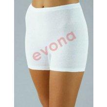 EVONA SAMA bílé dámské kalhotky s nohavičko 100% bavlna česaná b87f8501d3