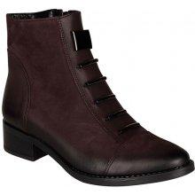 fd80ecd72b1 Dámská kožená kotníková obuv STIVAL - Camila vínová 826074