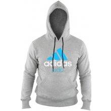 Adidas ComLine Judo mikina šedo-modrá