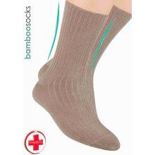 Steven pánské zdravotní ponožky z bambusového vlákna béžová tmavá f97156b2c9