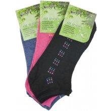 dámské kotníkové bambusové ponožky - set typ 1